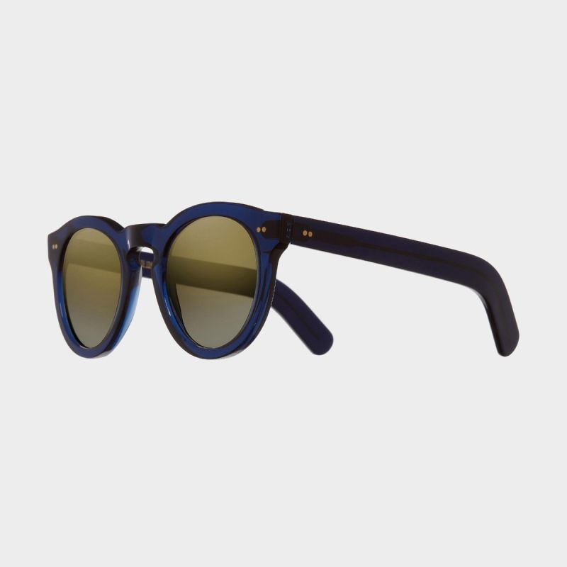 0734 Round Sunglasses (Large)-Classic Navy Blue