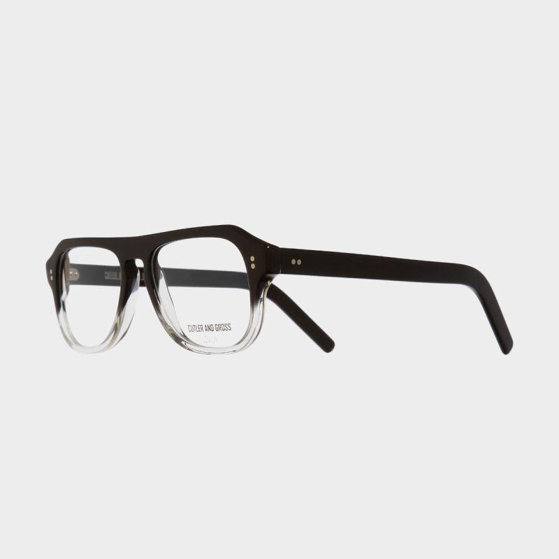 0822V2 Optical Aviator Glasses-Black to Clear Fade