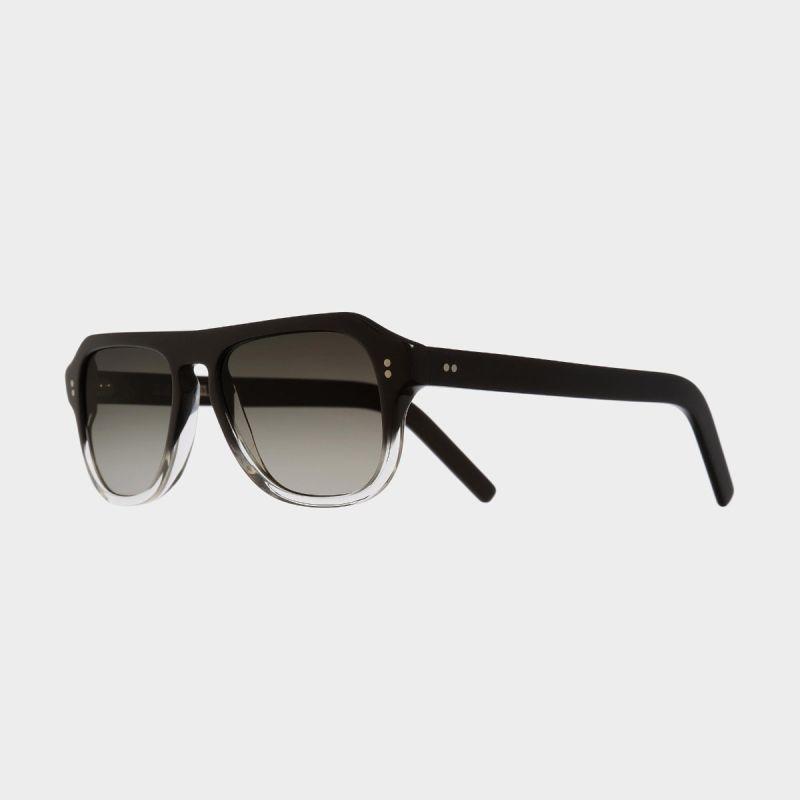 0822V2 Aviator Sunglasses-Black to Clear Fade