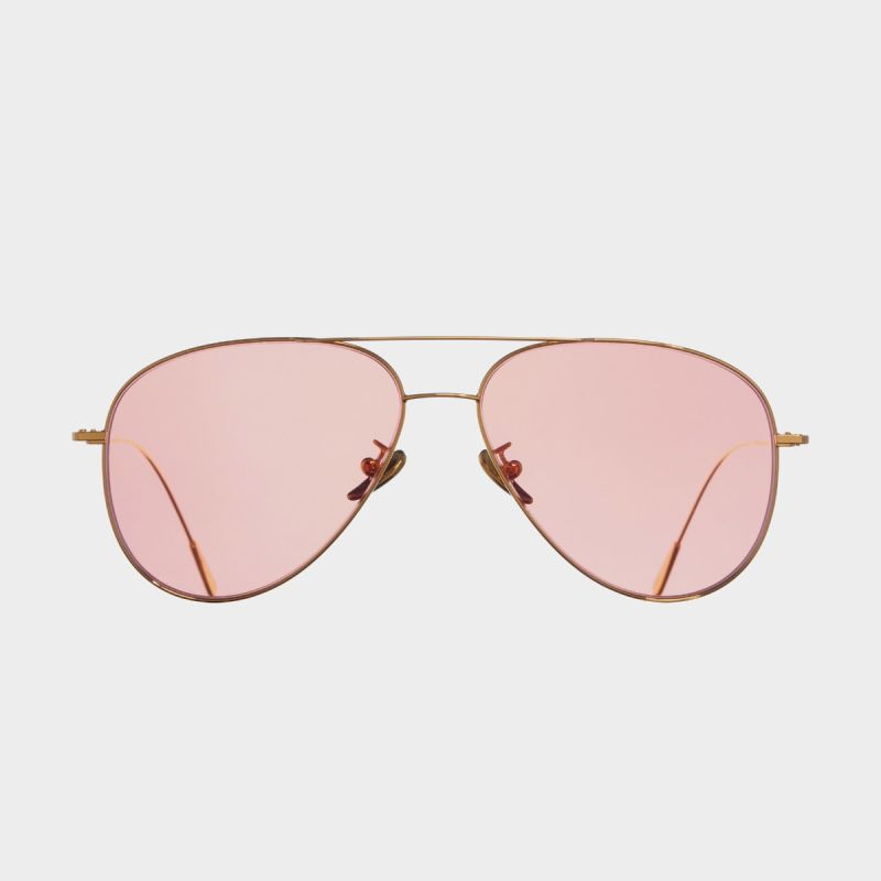 1266 Gold Plated Aviator Sunglasses