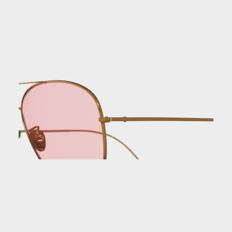 1266 Gold Plated Aviator Sunglasses