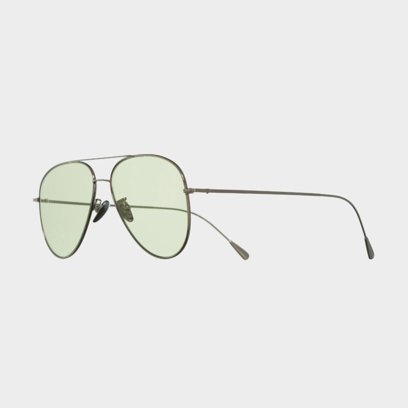 1266 Palladium Plated Aviator Sunglasses