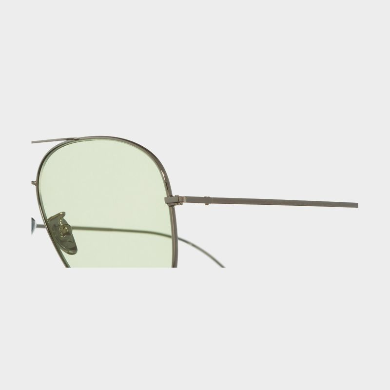 1266 Palladium Plated Aviator Sunglasses