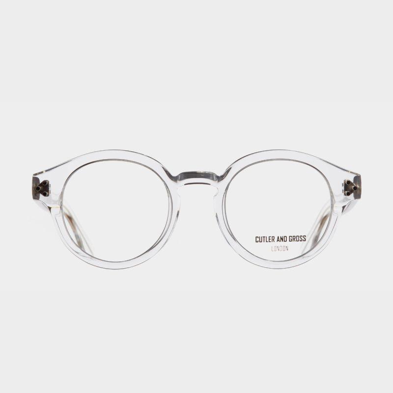 1291V2 Optical Round Glasses (Large)-Crystal