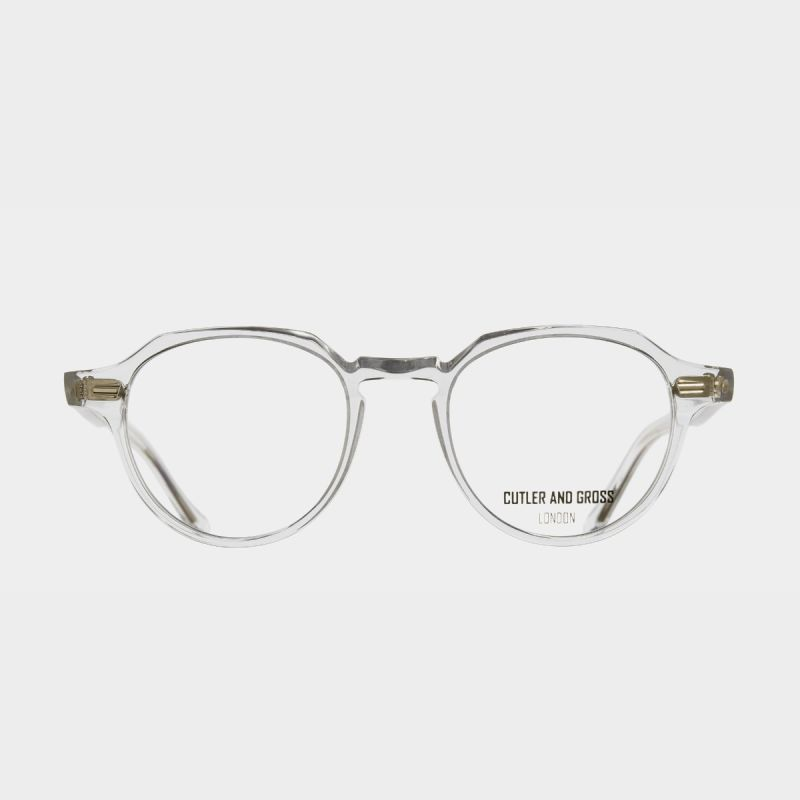 1313 Optical Round Glasses (Small)-Crystal