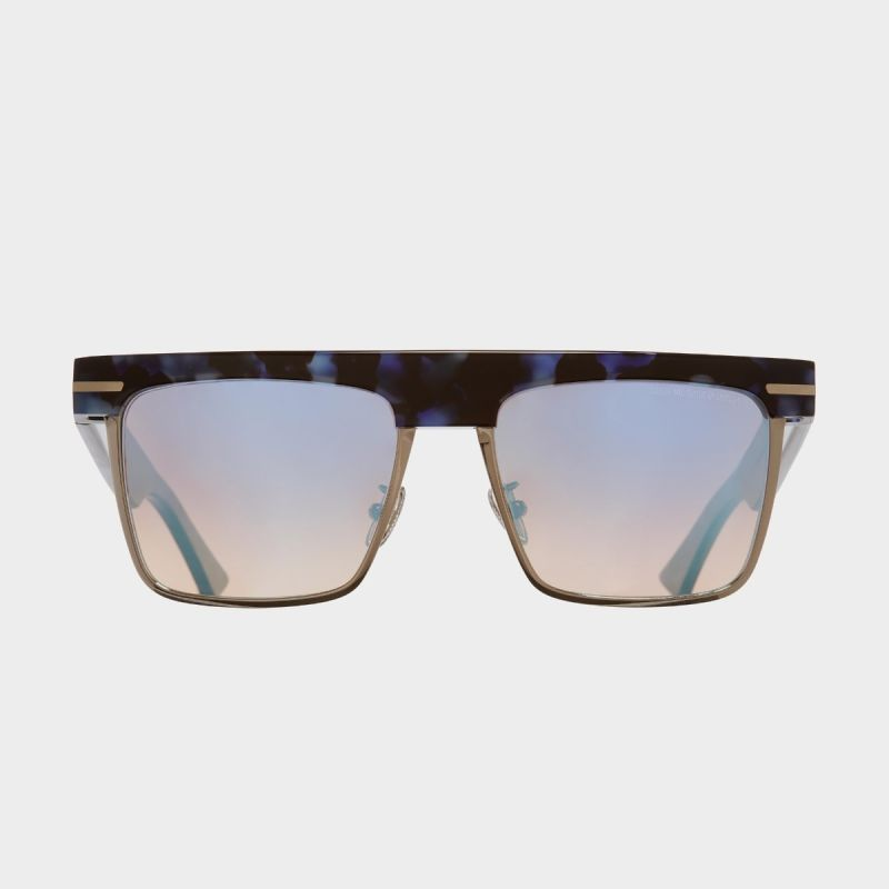 1359 D-Frame Sunglasses-Moondust Blue