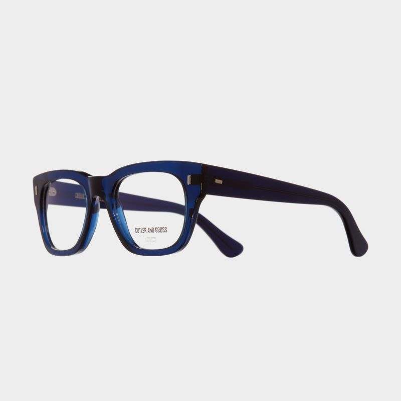 0772V2 Optical Square Glasses-Classic Navy Blue