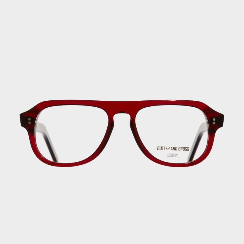 0822V2 Optical Aviator Glasses-Bordeaux Red