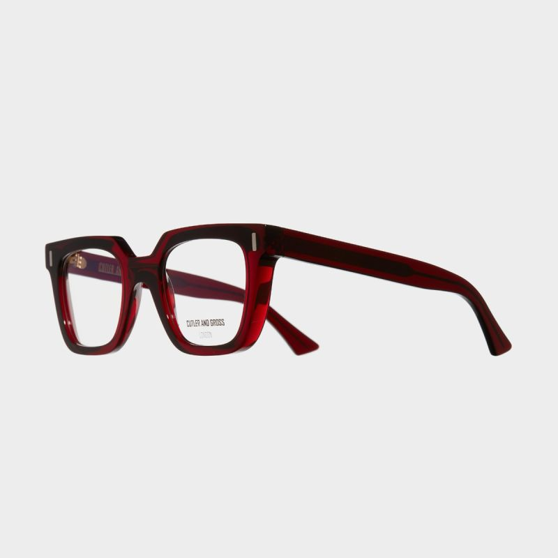 1305 Optical Square Glasses-Bordeaux Red