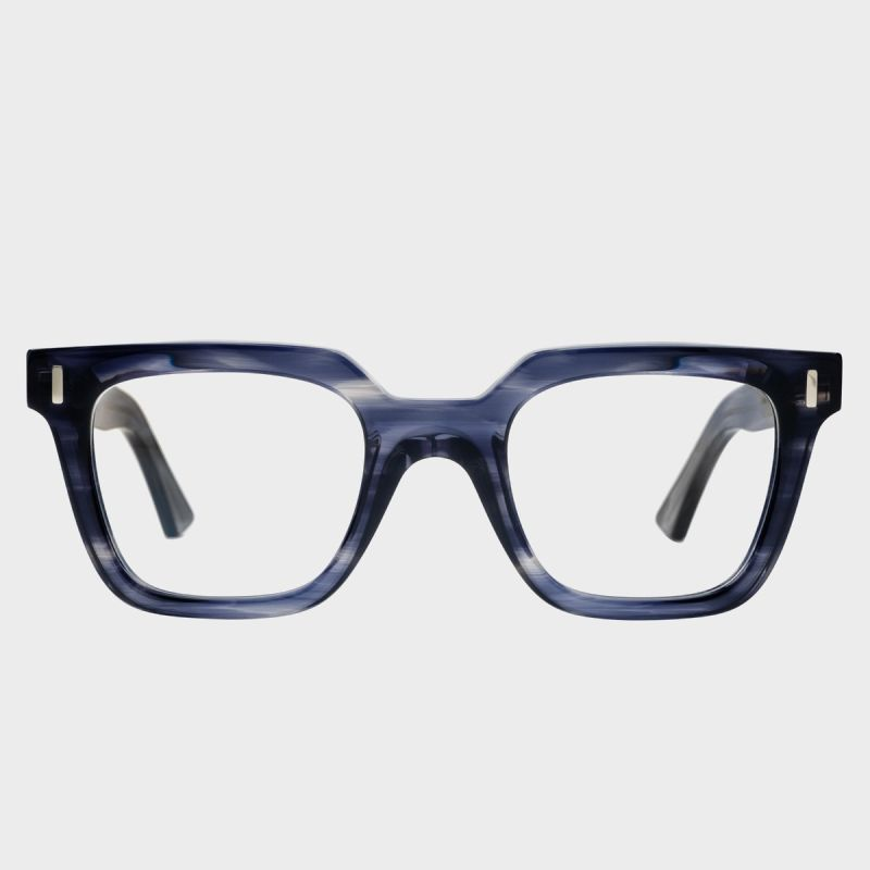 1305 Optical Square Glasses-Blue Smoke