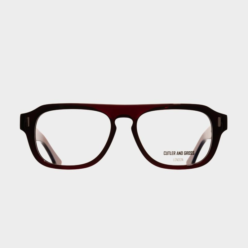 1319 Optical Aviator Glasses-Bordeaux Red