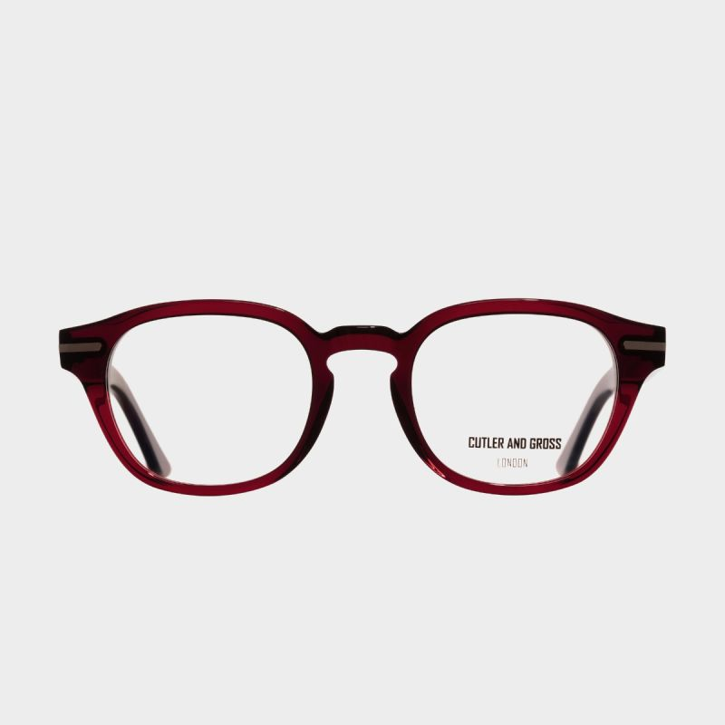1356 Optical Round Glasses-Bordeaux Red