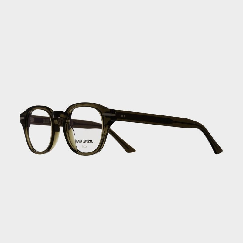 1356 Optical Round Glasses-Olive