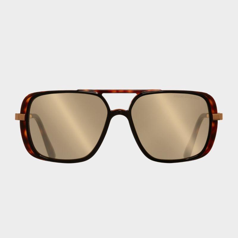 1345 Square Sunglasses-Black Taxi on Dark Turtle