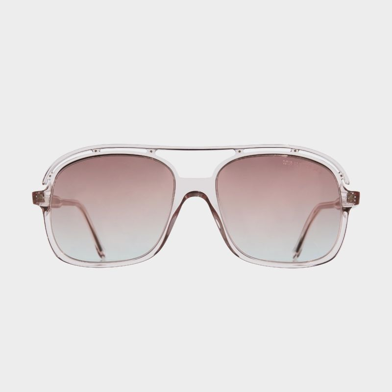 1376 Rectangle Sunglasses-Pink Crystal