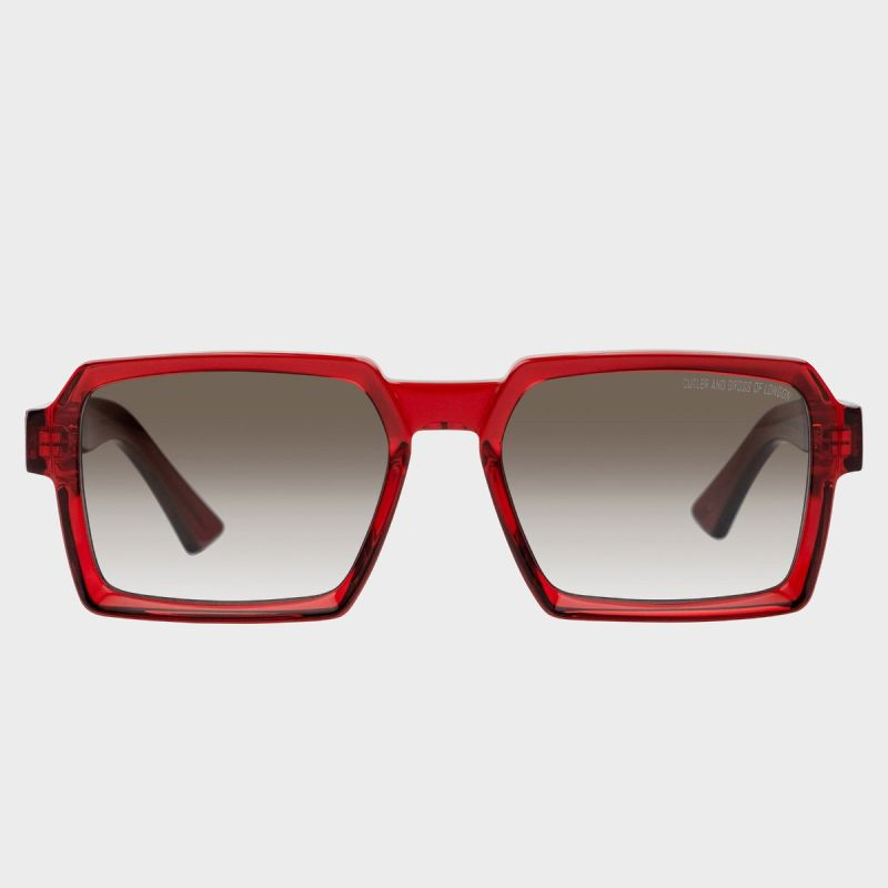 1385 Square Sunglasses-Crystal Red