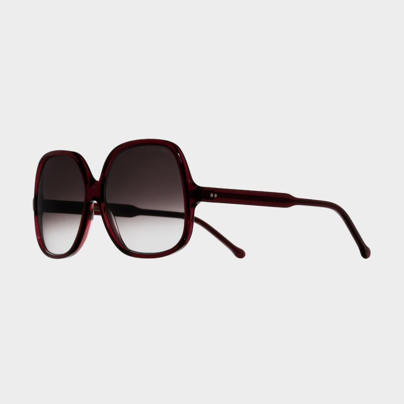 0811 Square Sunglasses-Bordeaux Red