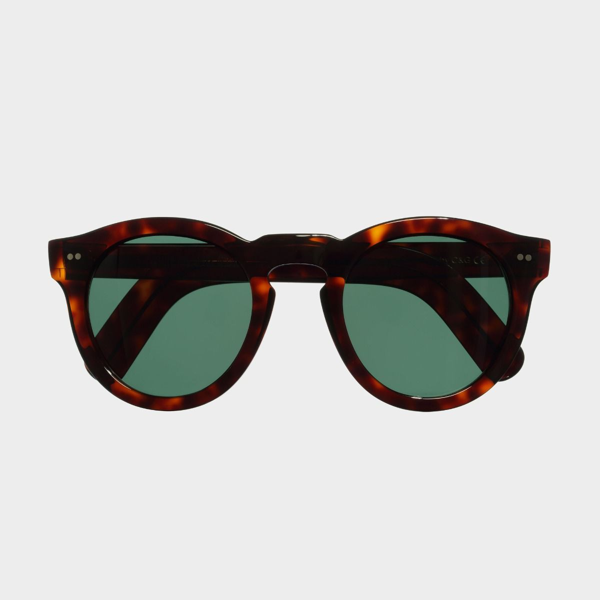 0734 Round Sunglasses (Large)-Dark Turtle