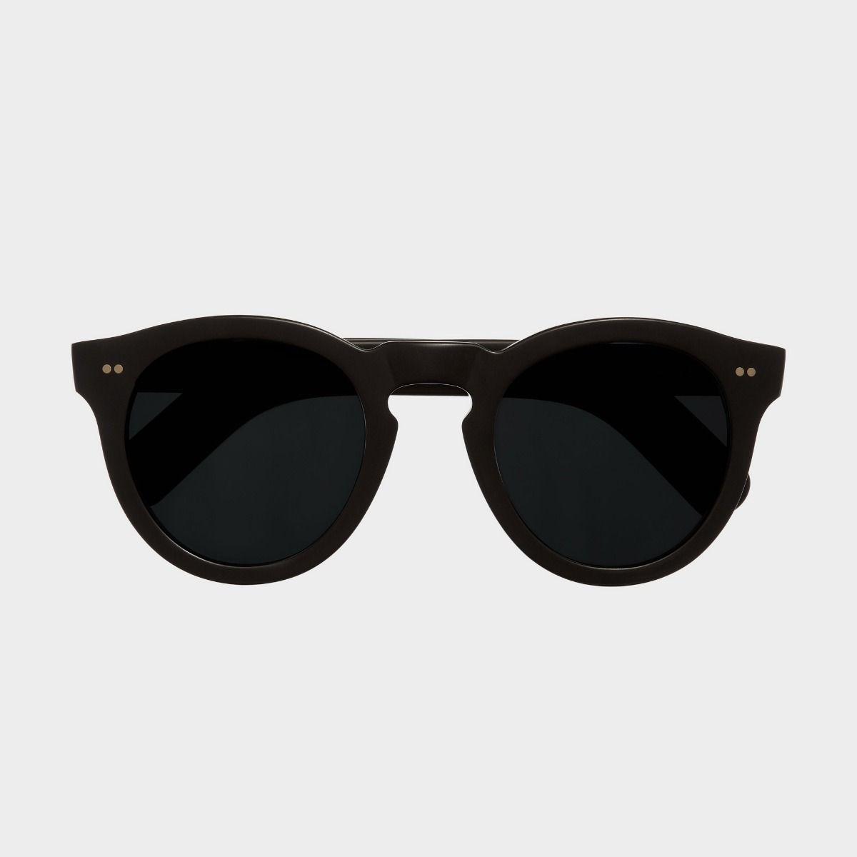 0734 Round Sunglasses (Large)-Matt Black
