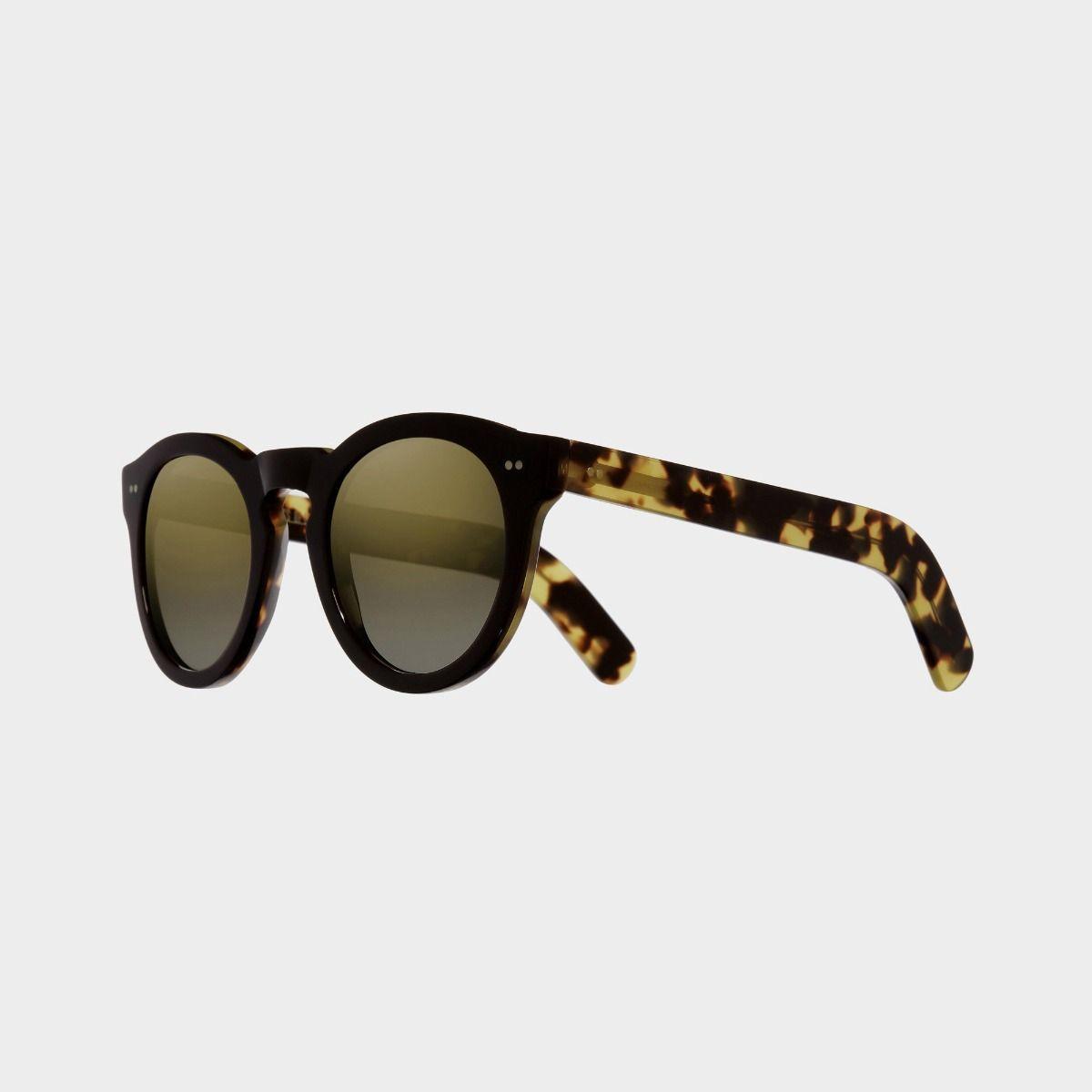 0734V2 Round Sunglasses (Small)-Black on Camo