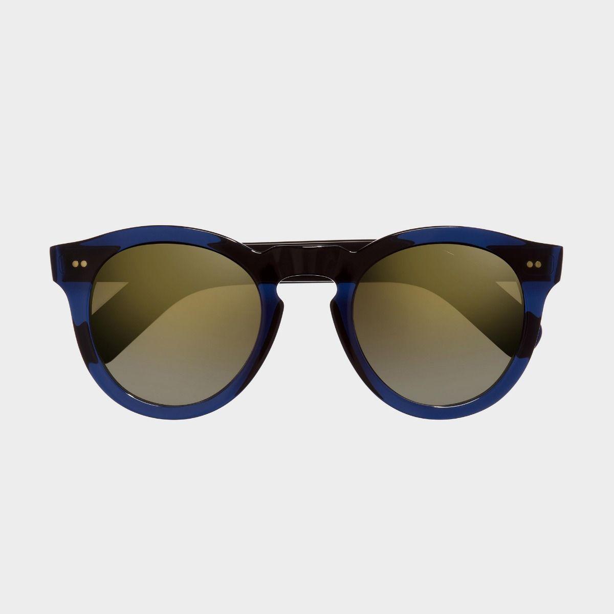 0734V2 Round Sunglasses (Small)-Classic Navy Blue