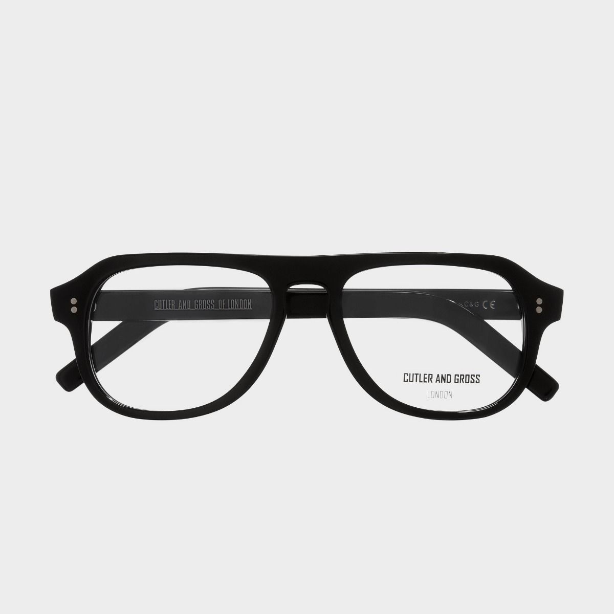 0822V3 Optical Aviator Glasses (Large)-Black