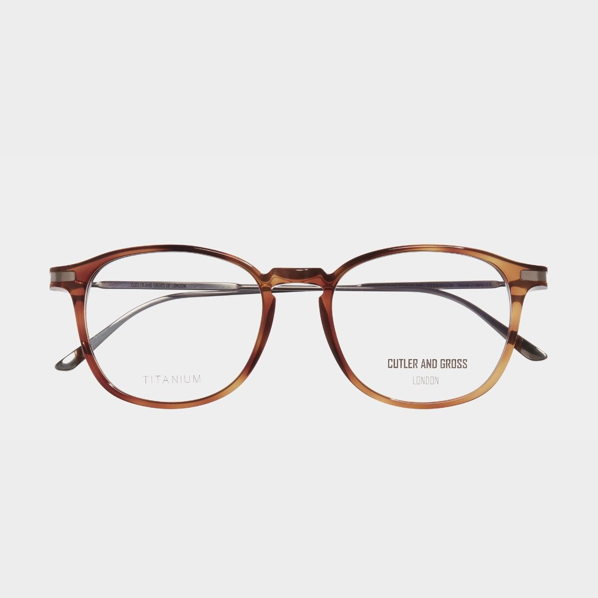 1303V2 Optical Square Glasses (Large)-Honey Turtle