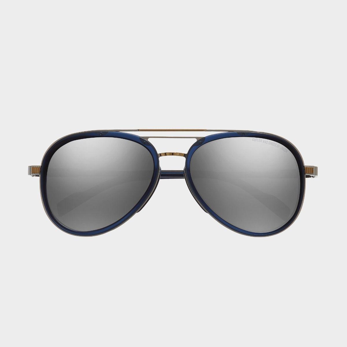 1323 Aviator Sunglasses-Classic Navy Blue