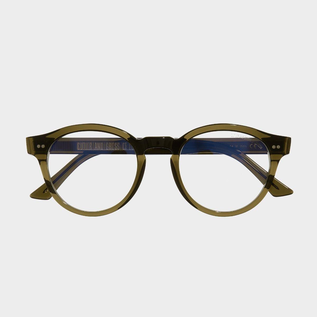 1378 Optical Round Glasses-Olive