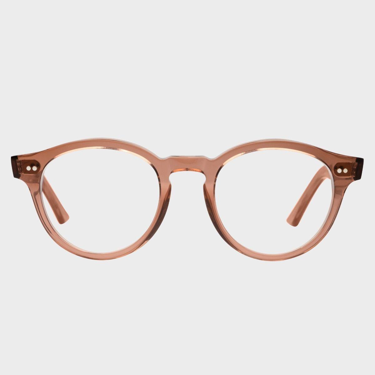1378 Blue Light Filter Optical Round Glasses-Rhubarb