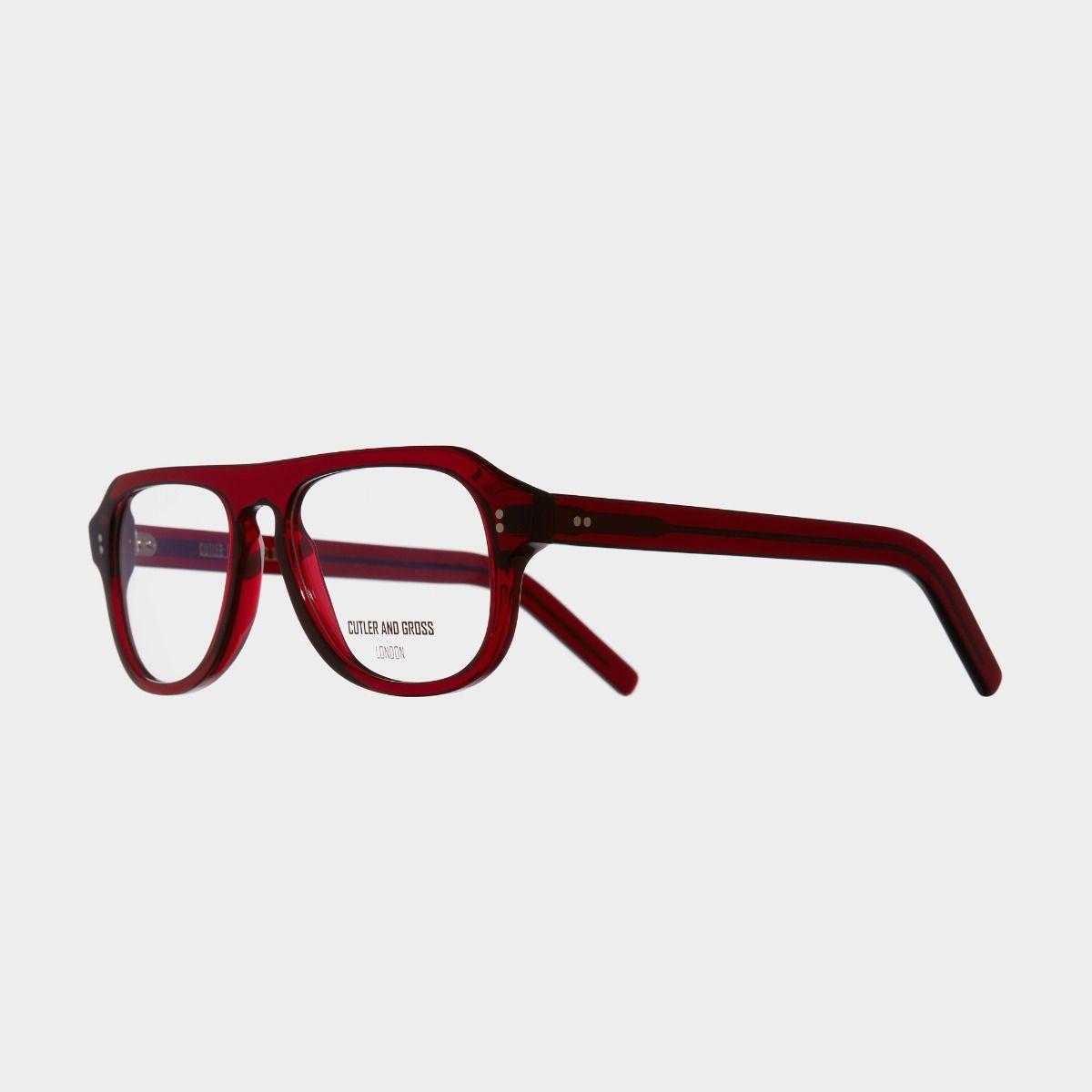 0822V2 Optical Aviator Glasses-Bordeaux Red
