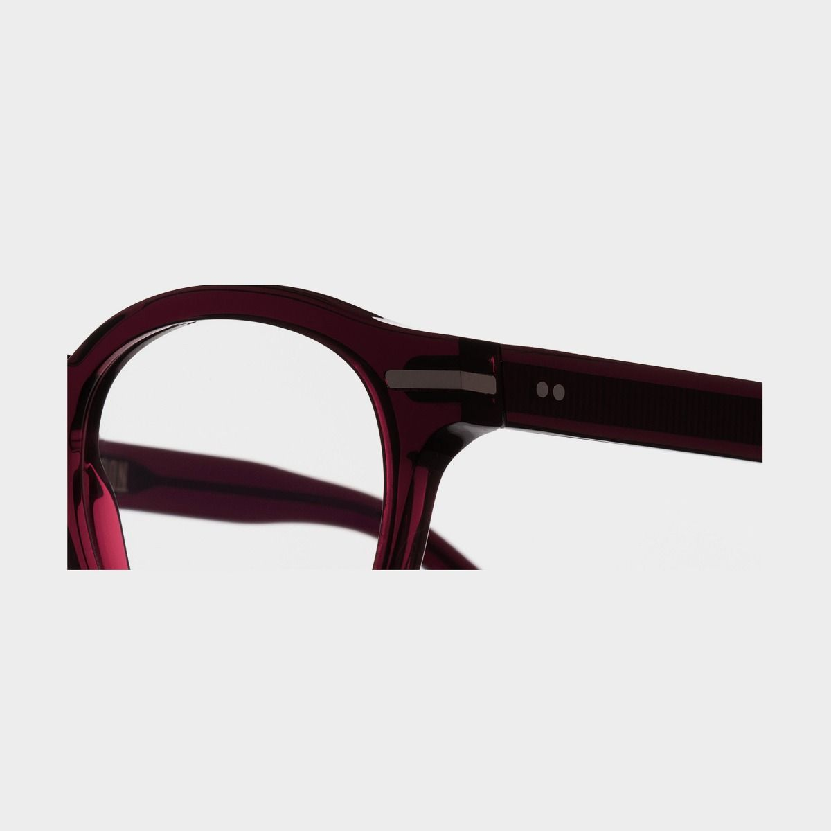 1338 Optical Round Glasses-Bordeaux Red