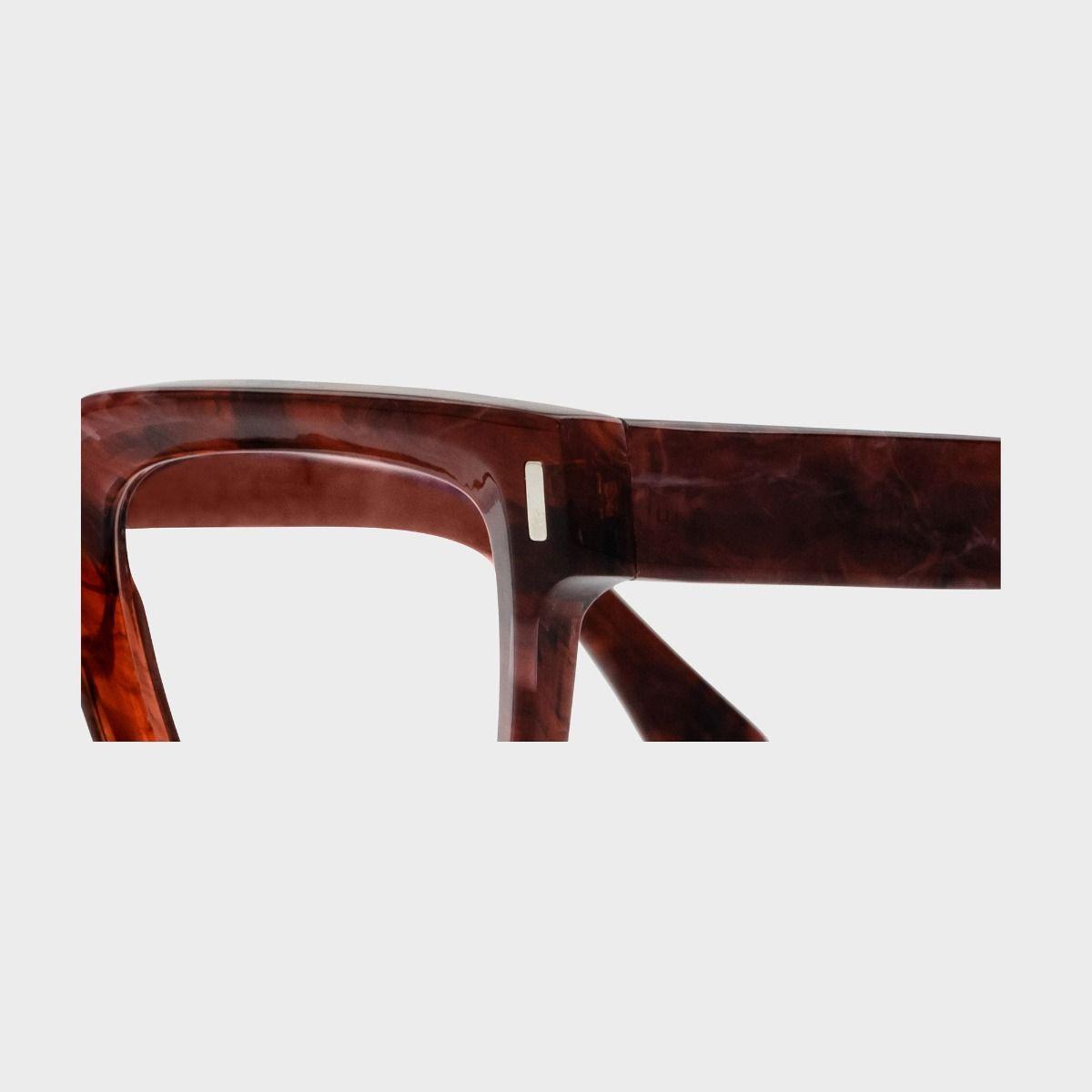 1386 Optical Square Glasses-Burgundy Marble