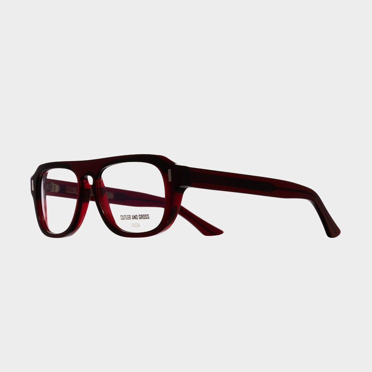 1319 Optical Aviator Glasses-Bordeaux Red