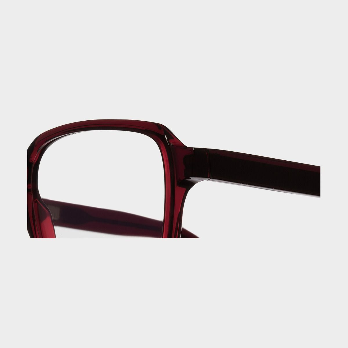 1361 Optical Square Glasses-Bordeaux Red