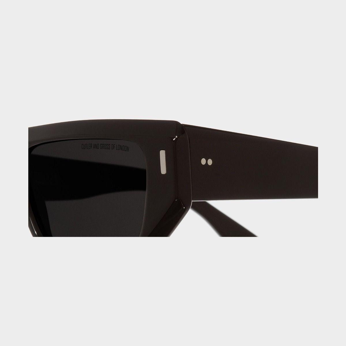 1367 Browline Sunglasses-Black